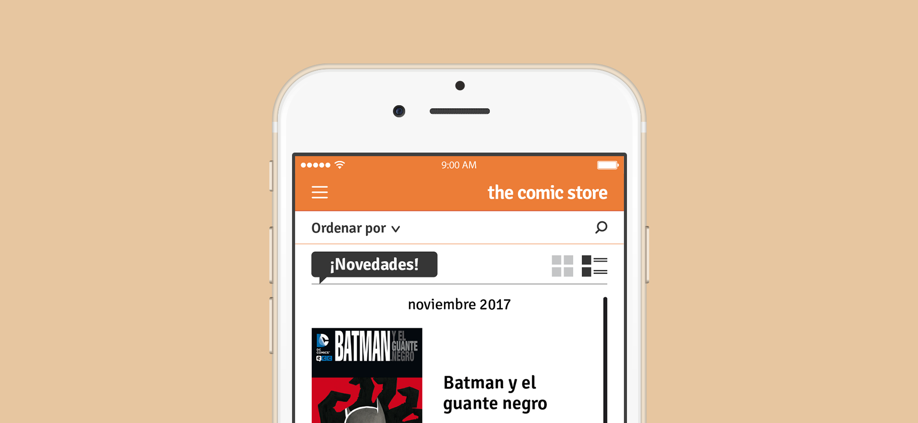 ui design the comic store user interface