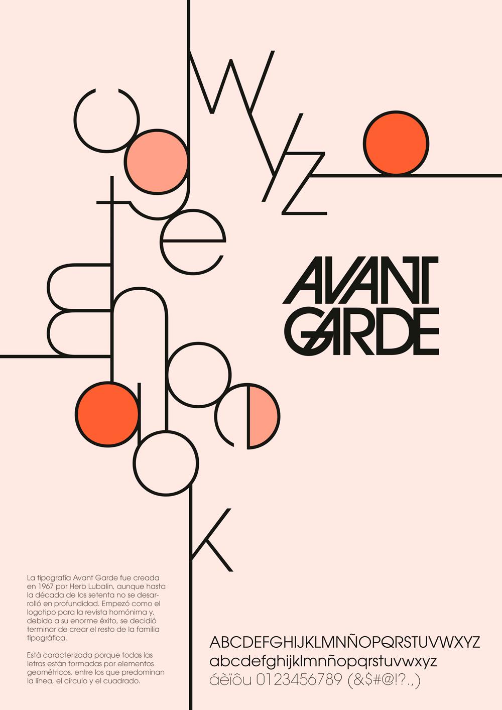 Avant Garde typography Poster