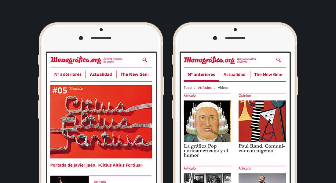 monografica web app