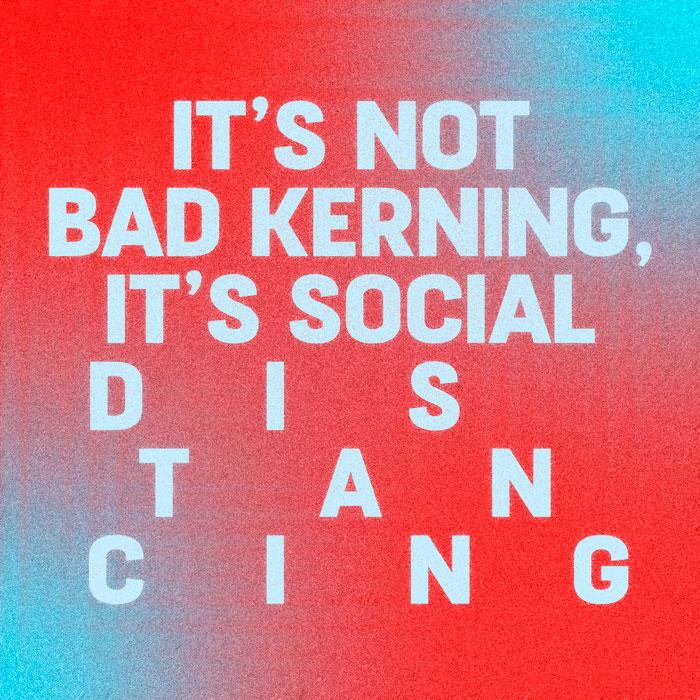 Bad kerning poster